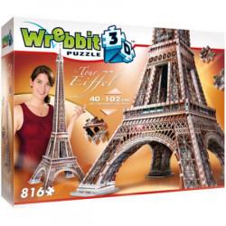 WREBBIT Puzzle 3D WIEŻA EIFFLA 816elementów 02009