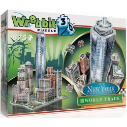 WREBBIT Puzzle 3D NOWY JORK World Trade 875elementów 02012