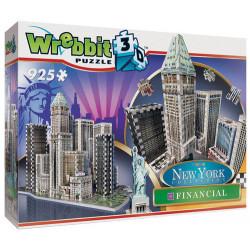 WREBBIT Puzzle 3D NOWY JORK Financial 925elementów 02013