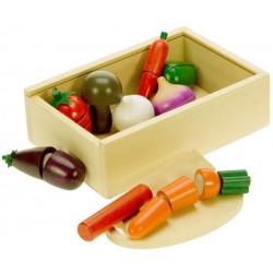 Bigjigs Toys - BJ748 - Drewniane Warzywa Do Krojenia