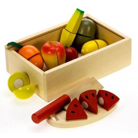 Bigjigs Toys - BJ747 - Drewniane Owoce Do Krojenia