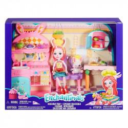 Mattel ENCHANTIMALS Lalka Bree Bunny i kuchnia FRH47