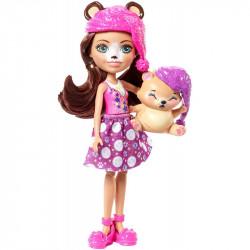 Mattel ENCHANTIMALS Lalka Bren Bear i Sypialnia FRH46