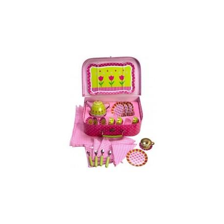 Bigjigs Toys - BJ604 - Serwis do Herbaty - Walizeczka Piknikowa