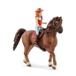 SCHLEICH FIGURKI ZWIERZĄT DZIEWCZYNKA I QUARTER HORSE 42411