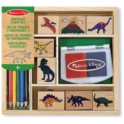 Melissa & Doug - 11633 - Pieczątki - Zestaw Pieczątek - Dinozaury