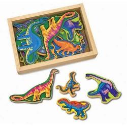 Melissa & Doug - 10476 - Drewniane Magnesy na Lodówkę - Dinozaury