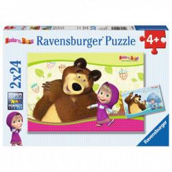 RAVENSBURGER Puzzle 2x24 MASZA I NIEDŹWIEDŹ 090464