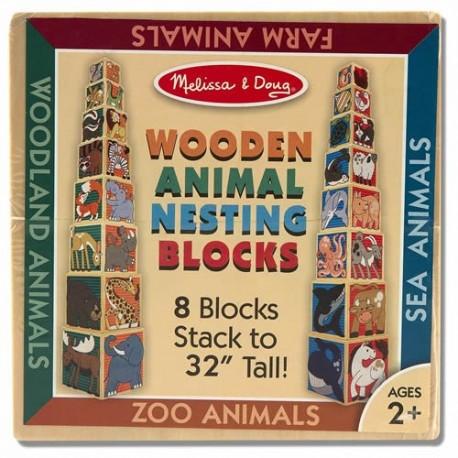 Melissa & Doug - 14207 - Drewniane Pudełka ze Zwierzętami