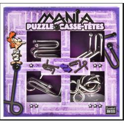 G3 EUREKA Puzzle Metalowe 3D ŁAMIGŁÓWKA METALOWA Zestaw Fioletowy 473204