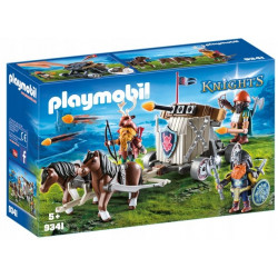 PLAYMOBIL 9341 KNIGHTS ZAPRZĘG KUCYKÓW Z BALISTĄ KRASNOLUDÓW