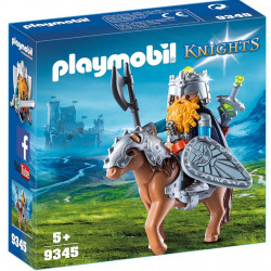 PLAYMOBIL 9345 KNIGHTS KRASNOLUD Z WOJOWNICZYM KUCYKIEM