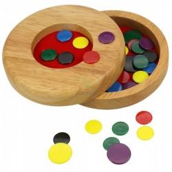 Bigjigs Toys - BJ154 - Drewniane Pchełki - Gra Zręcznościowa