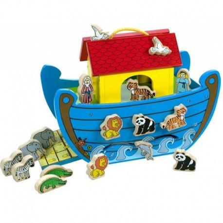 Bigjigs Toys - BJ353 - Drewniana Arka Noego