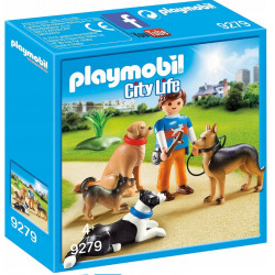 PLAYMOBIL 9279 City Life TRENER PSÓW