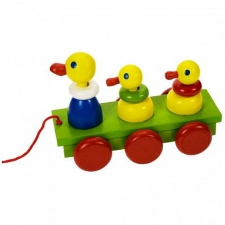Bigjigs Toys - BJ303 - Drewniane Kaczuszki na Sznurku