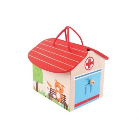 Bigjigs Toys - BJ682 - Drewniany Mini Szpital