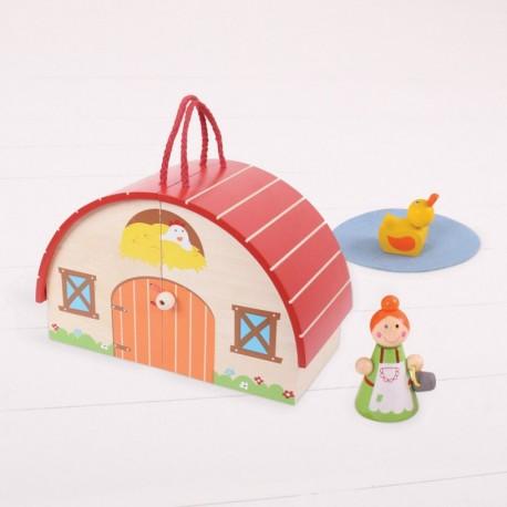 Bigjigs Toys - BJ684 - Drewniana Mini Farma