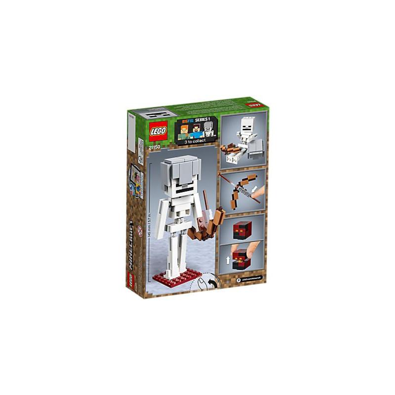 82cf87f22 LEGO Minecraft 21150 BigFig SZKIELET Z KOSTKĄ MAGMY