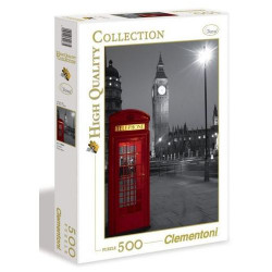 CLEMENTONI Puzzle 500 el. High Quality Collection LONDYN Budka Telefoniczna 30263