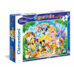 CLEMENTONI Puzzle 24 el. SuperColor Maxi BAJKOWA RODZINA 24473