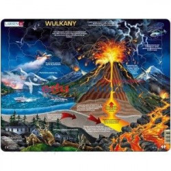 LARSEN Puzzle WULKANY 39027