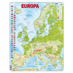 LARSEN Puzzle MAPA FIZYCZNA EUROPY 21701