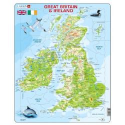 LARSEN Puzzle MAPA Wielkiej Brytanii i Irlandii 21053