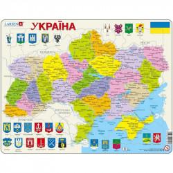 LARSEN Puzzle MAPA UKRAINY 21572