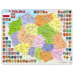 LARSEN Puzzle MAPA POLSKI Godła i Województwa 21978