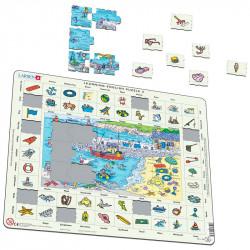 LARSEN Puzzle NAUKA ANGIELSKIEGO Nad Morzem nr.3 47039