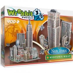 WREBBIT Puzzle 3D Nowy Jork Midtown West 900elementów 02010