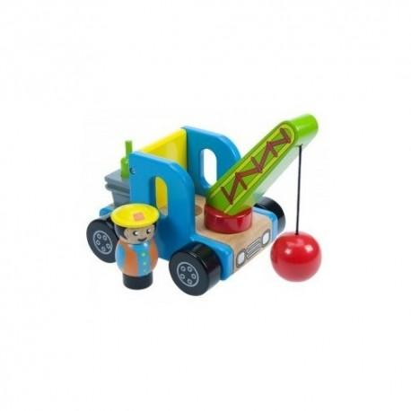 Bigjigs Toys - BJ346 - Dźwig z Kulą Burząca