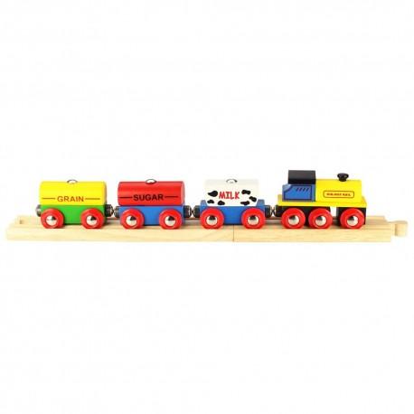 Bigjigs Toys - BJT184 - Pociąg Towarowy