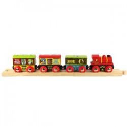 Bigjigs Toys - BJT426 - Pociąg Towarowy z Farmy