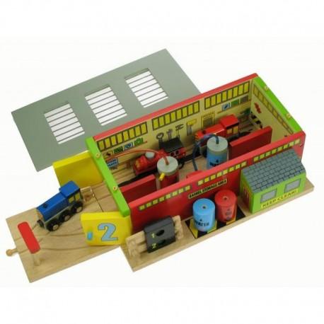 Bigjigs Toys - BJT225 - Stacja Naprawcza Pociągów - do Kolejek Drewnianych