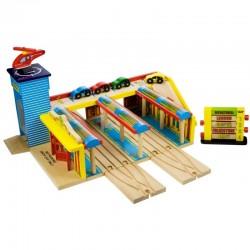 Bigjigs Toys - BJT201 - Wielki Dworzec Kolejowy - do Kolejek Drewnianych