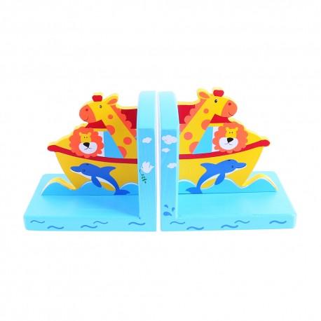 Bigjigs Toys - BJ882 - Podpórki na Książki - Arka Noego