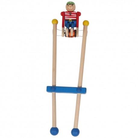 Bigjigs Toys - BJ961 - Drewniany Pirat na Trapezie