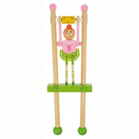 Bigjigs Toys - BJ962 - Drewniana Baletnica na Trapezie