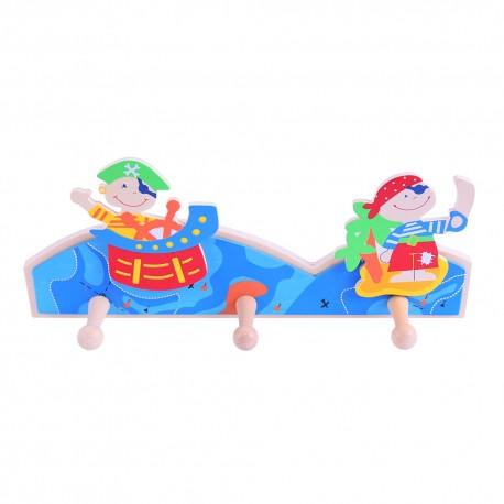 Bigjigs Toys - BJ851 - Wieszak - Piraci
