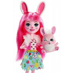 ENCHANTIMALS Zestaw Lalka i Zwierzątko Bree Bunny & Twist FXM73