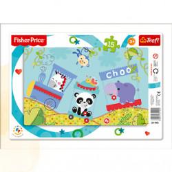 TREFL Puzzle Układanka 15 Sztuk WESOŁY POCIĄG 31195