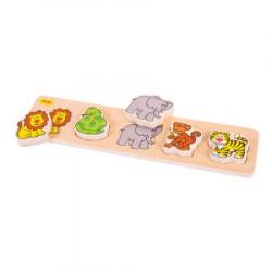 BigJigs Toys Drewniana Układanka Puzzle DŻUNGLA BB015