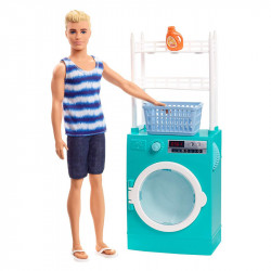 MATTEL Lalka Barbie KEN i Domowe Obowiązki PRANIE FYK52
