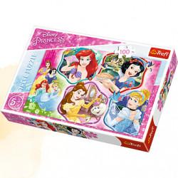TREFL Puzzle Układanka 100 el. Disney MAGIA KSIĘŻNICZEK 16339