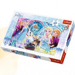 TREFL Puzzle Układanka 100 el. Disney Frozen Kraina Lodu KRAINA PRZYJAŹNI 16340