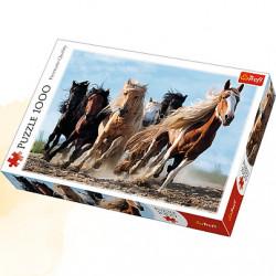TREFL Puzzle Układanka 1000 el. GALOPUJĄCE KONIE 10446