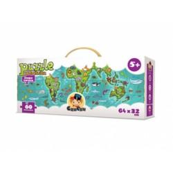 CzuCzu - 4543875 - Puzzle Podróżnika 60 - Mapa Świata - Zwierzęta