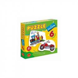 ALEXANDER Puzzle dla Maluszków POJAZDY Lokomotywa 7342
